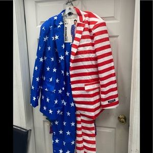 Other - Men's stripe and stars suit